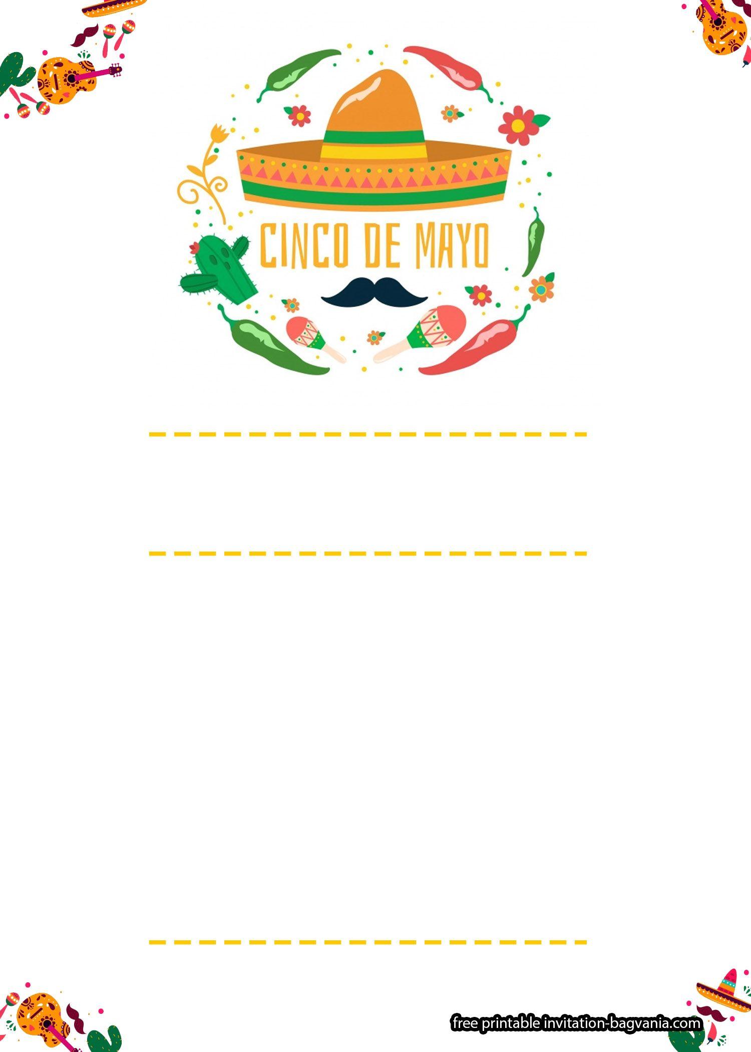 Free Cinco De Mayo Invitation Templates Free Birthday Invitation Templates Free Printable Birthday Invitations Printable Birthday Invitations