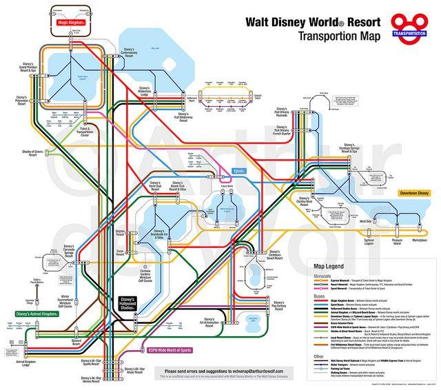 Disney World Florida Map.Walt Disney World Resort Transportation Map I Think Dominic Would