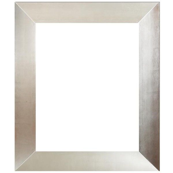 Regency Reverse Slope Silver Finish Frame ($96) ❤ liked on Polyvore featuring home, home decor, frames, backgrounds, borders and picture frame