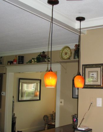 Kitchen Pendant Lights with orange colors. #Pendantlight #Lighting ...