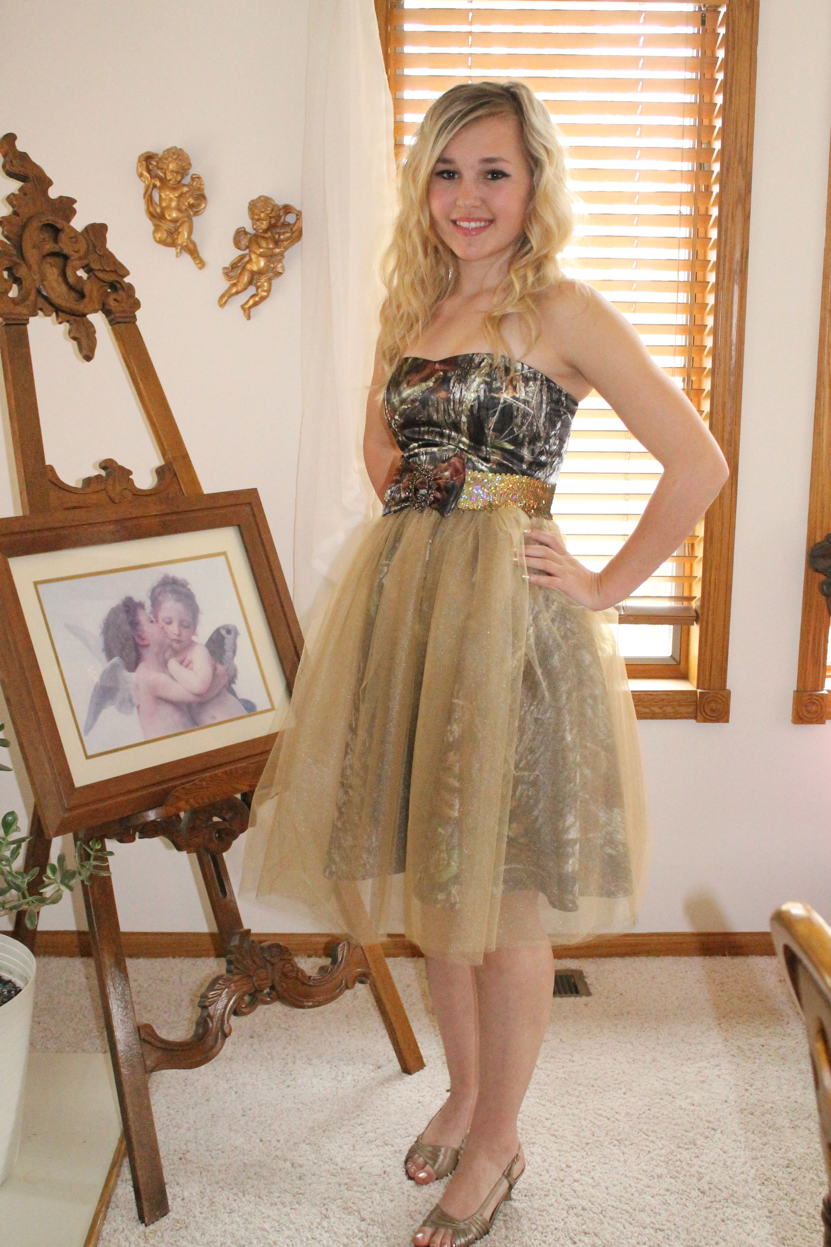 Camo prom camo dress countrygirl dresses pinterest camo