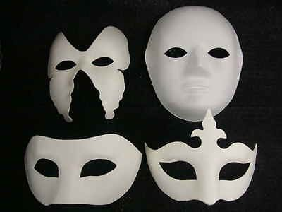 How To Decorate A Mask Adorable Mask White Mask  Plain Masks To Decorate Paint Colour Glitter Design Ideas