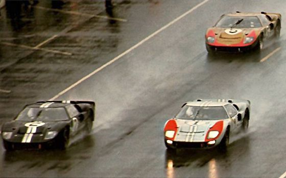 Ford Gt40s Finish 1 2 3 At 1966 Le Mans Ford Racing Ford Gt40 Gt40