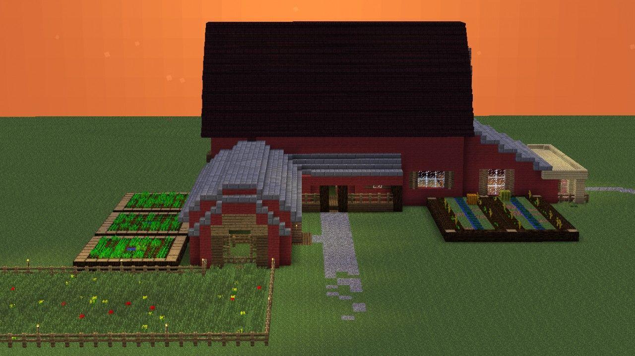Barn House! Minecraft Project  Minecraft barn, Minecraft farm