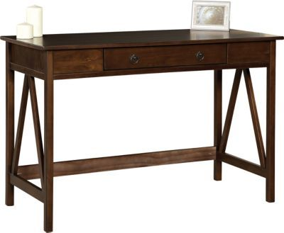 Staples®. has the Linon Titian Pine/Painted MDF Desk, Antique Tobacco you need for home office or business. FREE delivery on all orders over $19.99, plus Rewards Members get 5 percent back on everything!