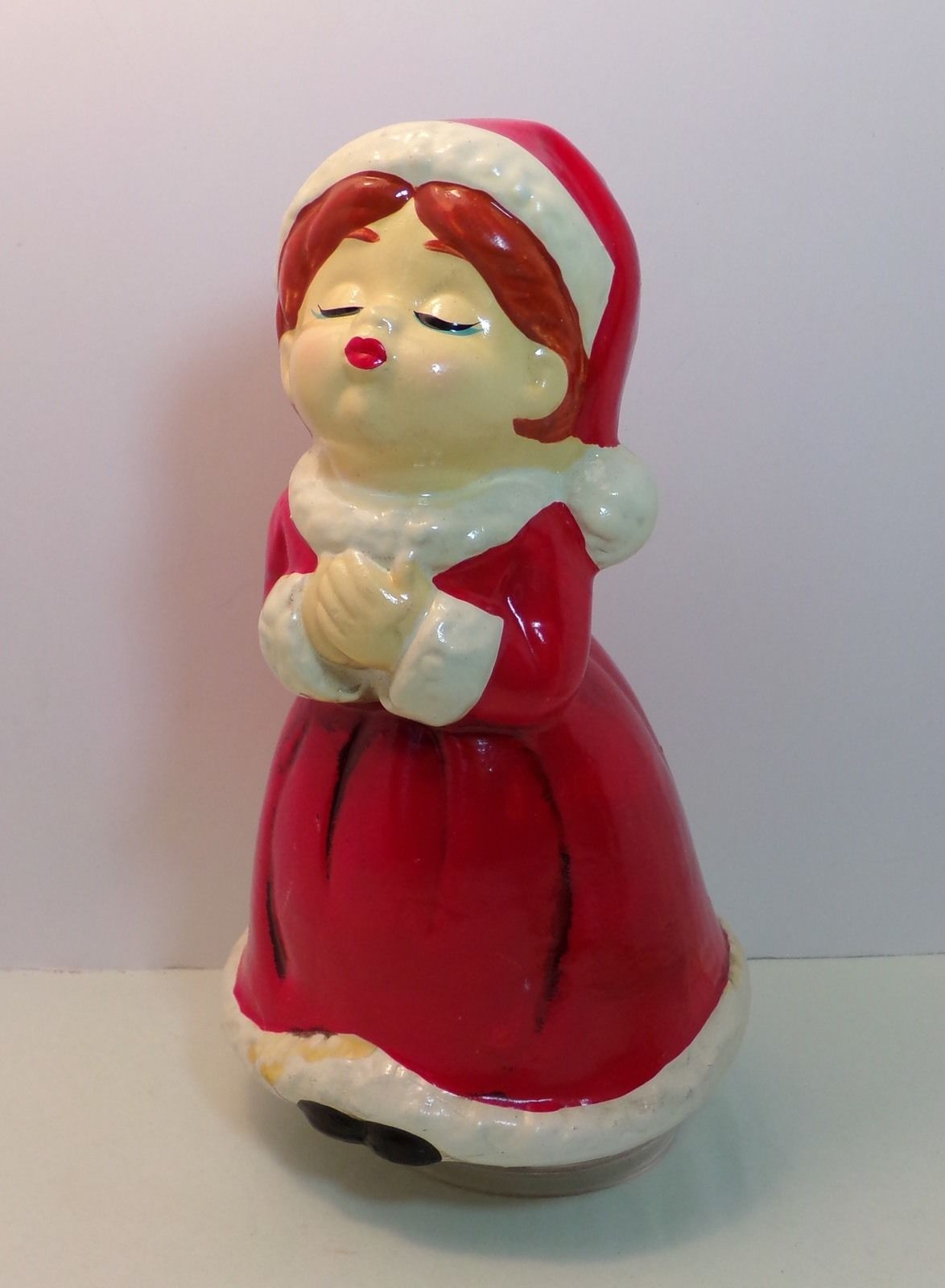 Mrs Claus Christmas Decorations Part - 37: Vintage Berman And Anderson Ceramic Kissing Mrs Claus Christmas Music Box |  EBay