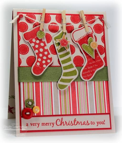Stitched Stocking Fun by One Happy Stamper - Cards and Paper Crafts at Splitcoaststampers