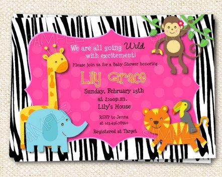 Safari jungle animals baby shower birthday party invitations boys safari jungle animals baby shower birthday party invitations boys girls stopboris Images