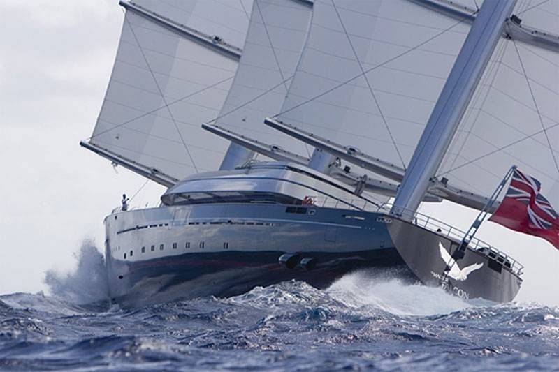 Maltese Falcon Worlds Largest Sailing Vessel Voile Classique Maltese Falcon Yacht Luxury Sailing Yachts Boat