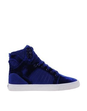 huge selection of 1f3e3 0527a Trendy Women s Sneakers   Supra Skytop Blue Velvet High Top Sneakers -   Women sshoes