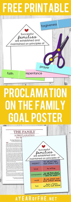 Family home evening ideas goals.