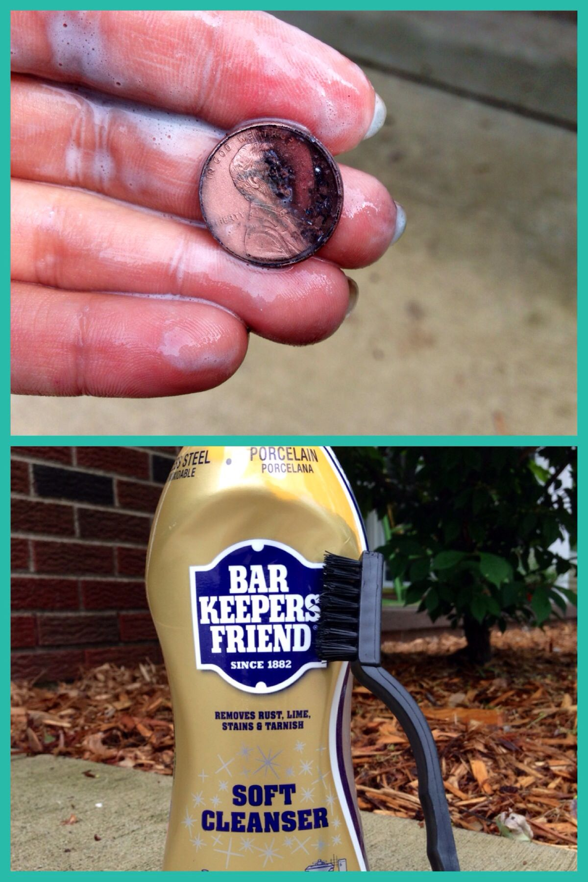 I Tried Vinegar Salt, Vinegar Baking Soda, Ketchup, Cola, Brass Cleaner.  The Best Way To Clean Pennies Is To Soak Them In BarKeepers Friend For Then  Scrub ...