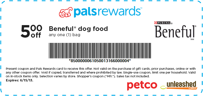 Save 5 On Beneful Coupon Code Cbeneful5 To Redeem Online Or Print And Use In Store Exp 6 15 13 Beneful Dog Food Dog Food Recipes Food Animals