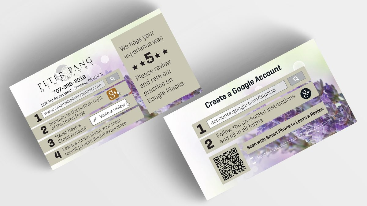 Progressive Dental Print Design - Peter Pang Dentistry Google Cards