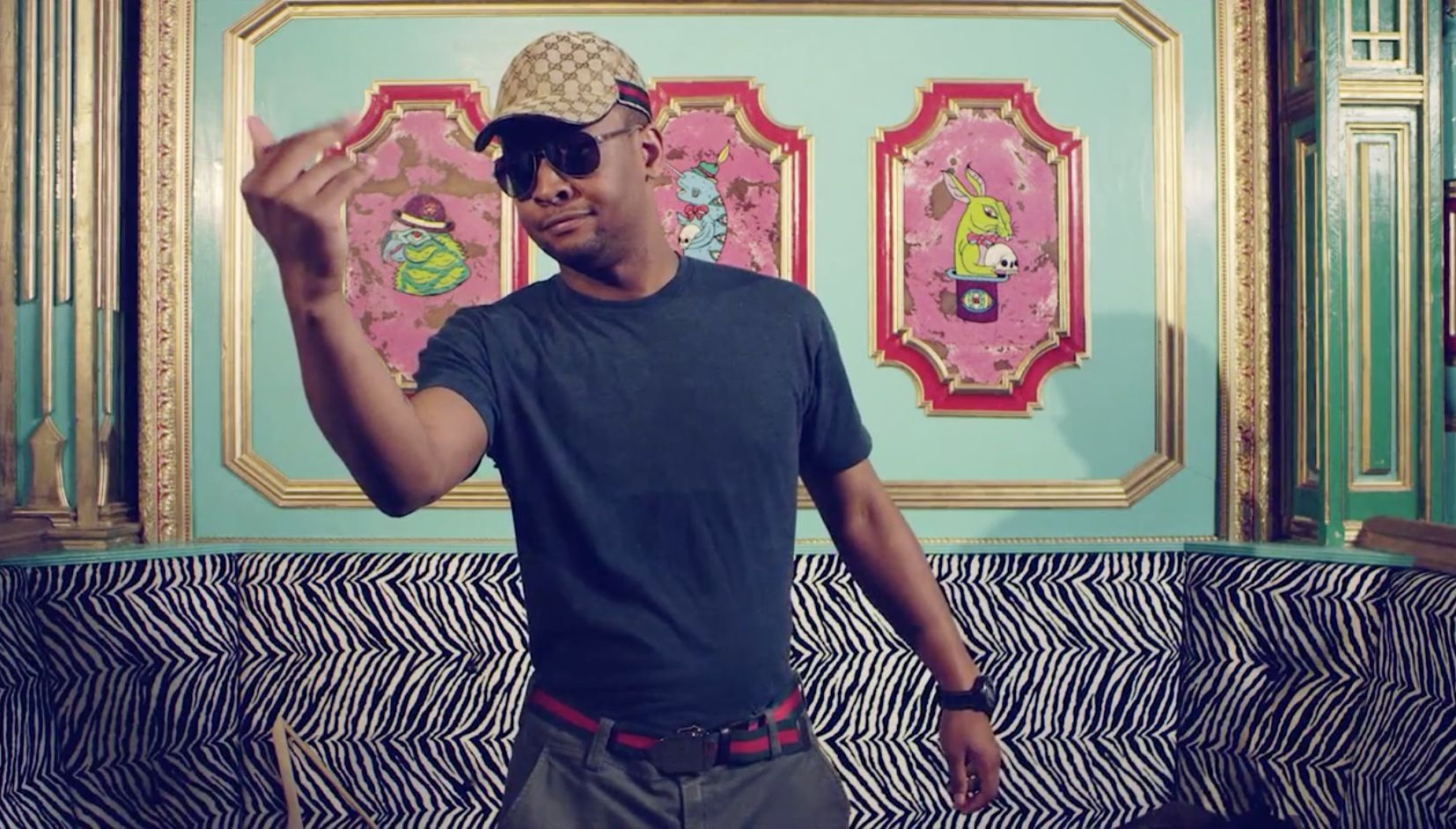 Gucci cap and belt in THRIFT SHOP by Macklemore   Ryan Lewis (2012)  gucci f64b84f6e36