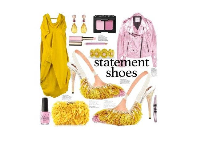 """Statement Shoes"" by marionmeyer on Polyvore featuring Mode, Rick Owens, Corto Moltedo, MANGO, Talbots, Brigid Blanco, NARS Cosmetics, OPI, Estée Lauder und Clarins"