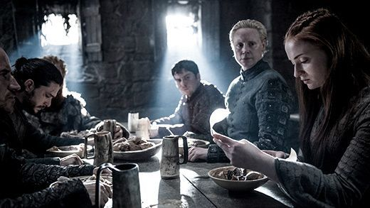 Jon Snow, Podrick Payne, Brienne, Sansa Stark, Game of Thrones Season 6, Episode 4
