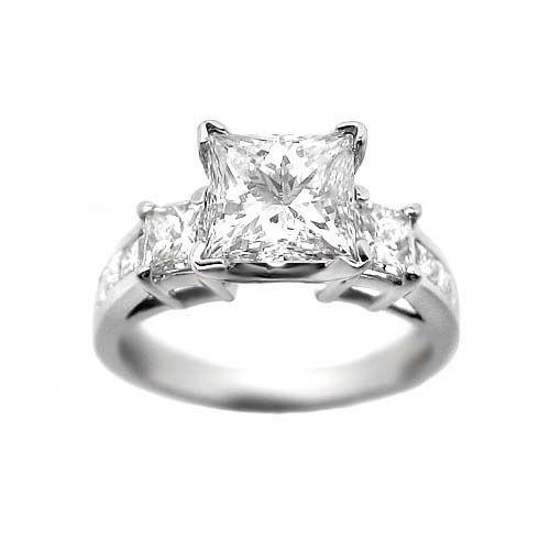 1.65 G VS2 PRINCESS CUT DIAMOND ENGAGEMENT RING 14k WG http://www.larrysfinejewelryinc.com/
