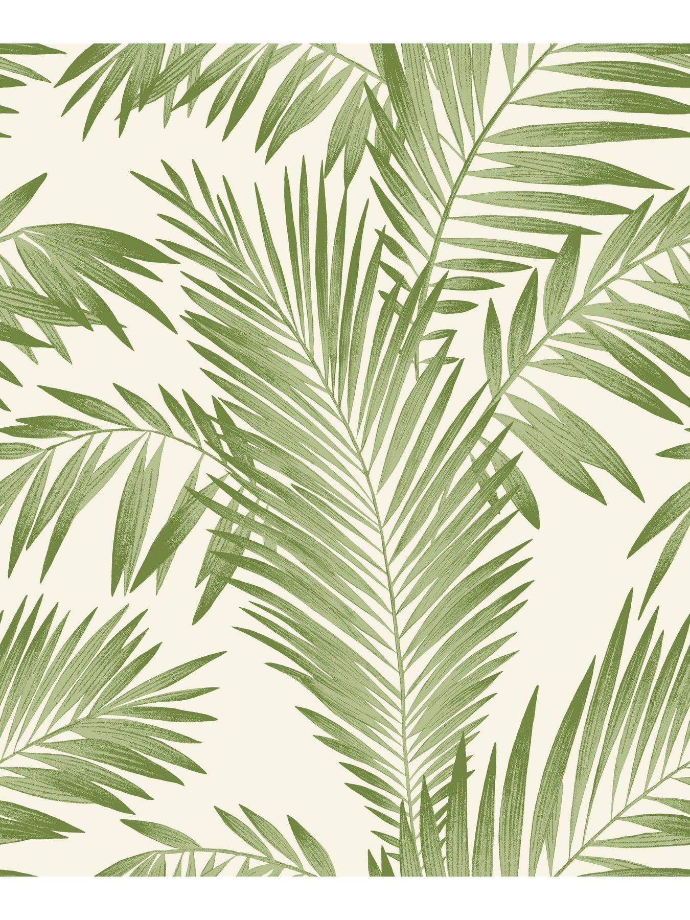 Arthouse Tropical Palm Wallpaper Green Bring A Hint Of Totally