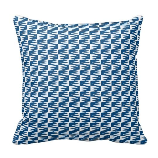 Woodcut pattern pillow
