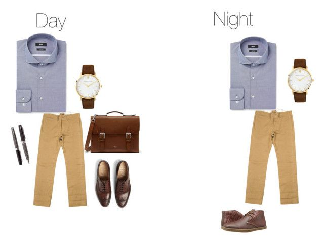 """""""Conference Day to Night"""" by interdysconference on Polyvore featuring RRL, HUGO, Church's, Mulberry, Ben Sherman, Balmain, men's fashion and menswear"""