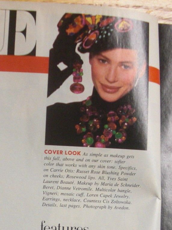 PROVENANCE FOR CIS BIB IN VOGUE MAGAZINE ON INSIDE COVER