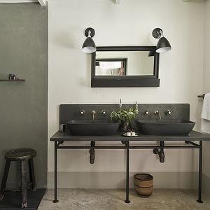 The satyagraha house bathrooms minimalist style - Industrial style bathroom vanities ...