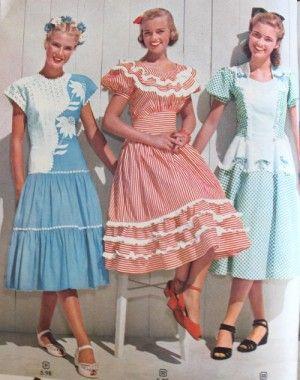 693cf9eb0971 1940s Teenage Fashion: Girls | 1940s Fashion History | 1940s fashion ...