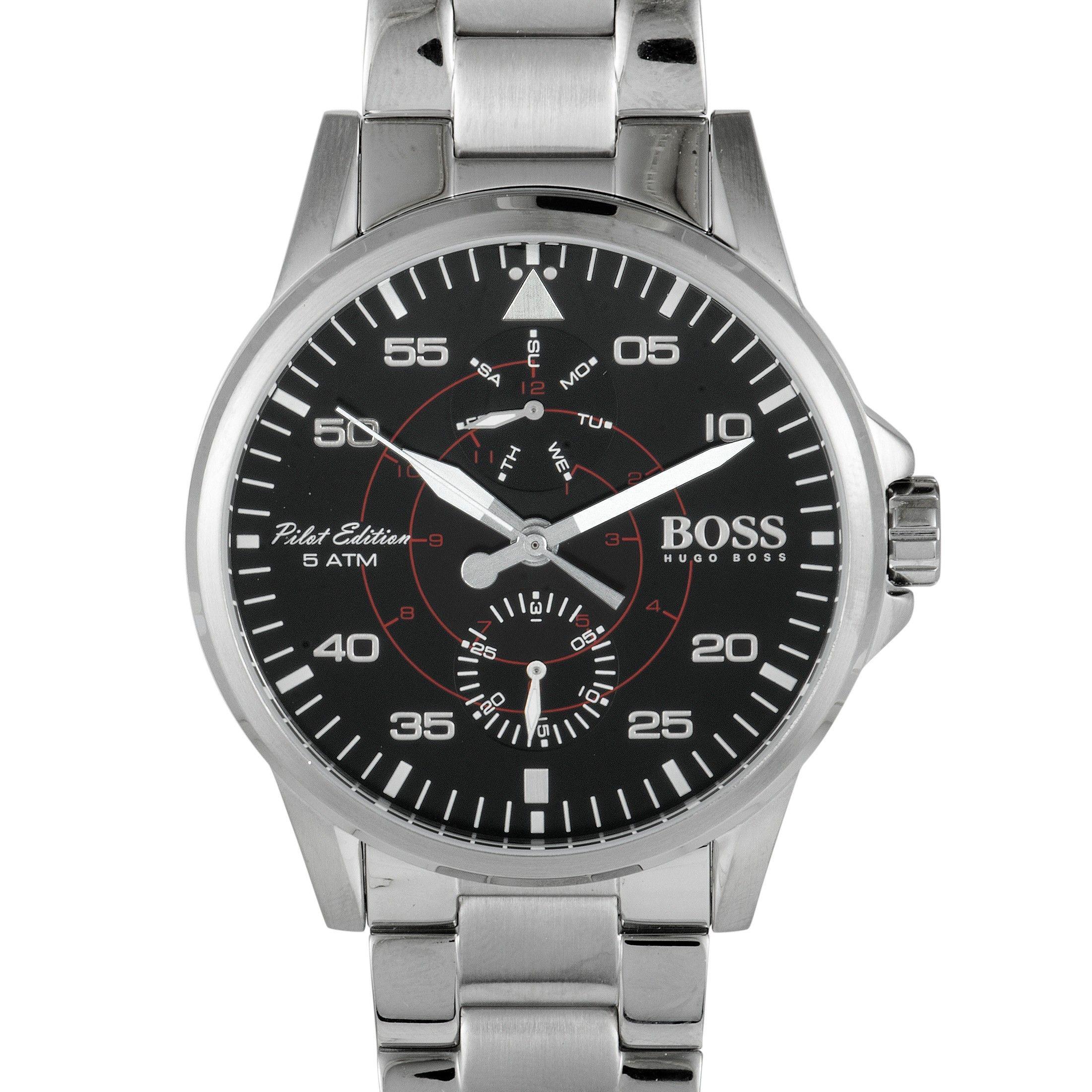 f7bb30668 Hugo Boss Aviator Casual Sport Men's Watch Black 1513518 | Hugo Boss ...
