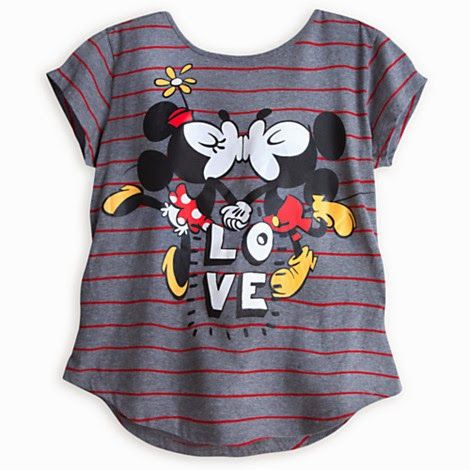 Too cute! Part of the new line of Disney clothing featuring Mickey's and Minnie's romance.