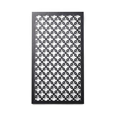 Décoration murale en métal noir 50x88cm