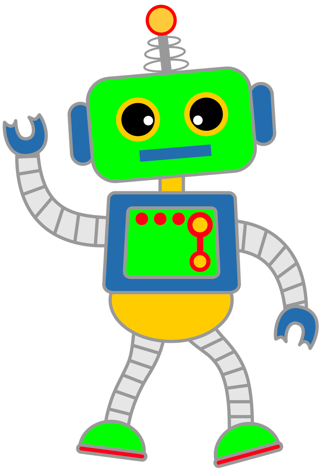 Classroom Treasures Robot Clipart August September