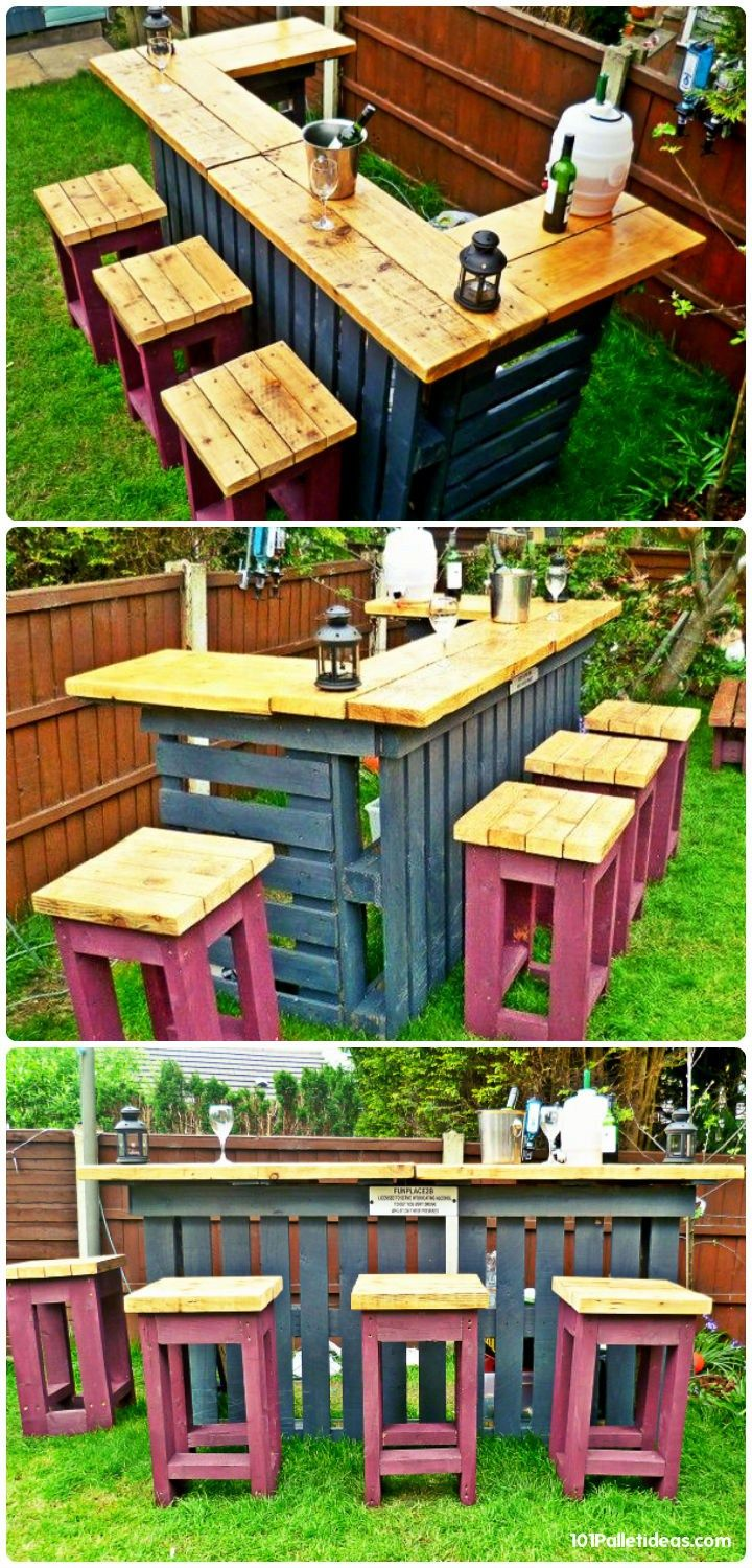 30 Best Picket Pallet Bar Diy Ideas For Your Home With Images