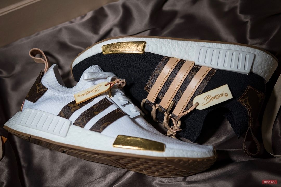 uk availability 7f3a8 1c621 Adidas NMD x LV Customs by @sneakersnbonsai ...