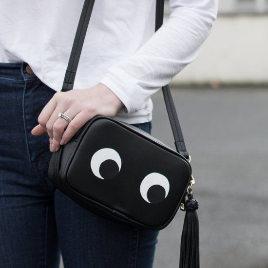 A designer fashion inspired DIY - make your own Anya Hindmarch inspired eyes bag for only $20!