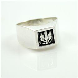 Polish Historic Eagle Silver Signet Ring