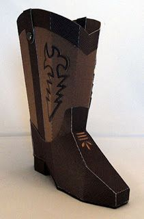 Needles 'n' Knowledge: 3d Cowboy Boot Papercraft Tutorial