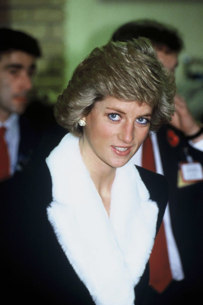 Princess Diana Wearing Blue Eyeliner in 1988 #princessdiana