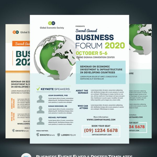 Business Event Flyer Poster Psd Template 67917 Event Poster