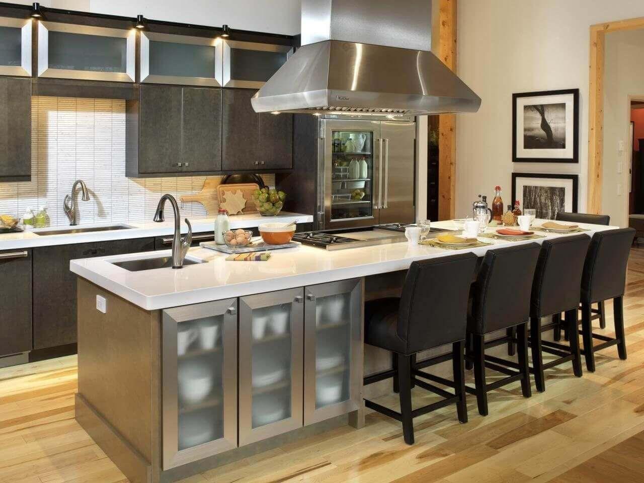 68 deluxe custom kitchen island ideas jaw dropping designs kitchen island with sink kitchen on kitchen island ideas eat in id=51352