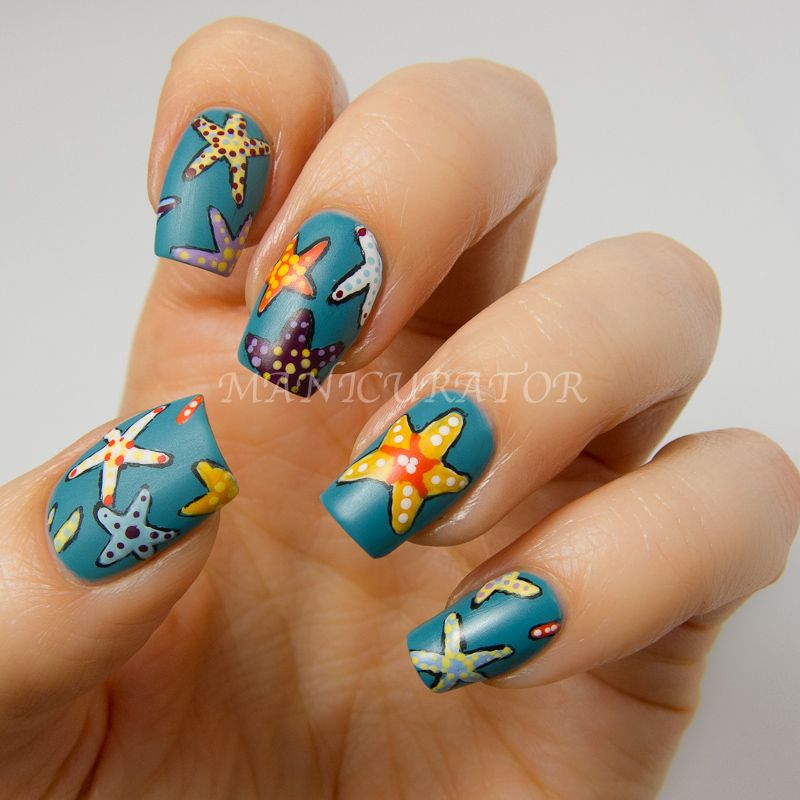 manicurator: Starfish Nail Art Plus Tutorial with Picture Polish ...