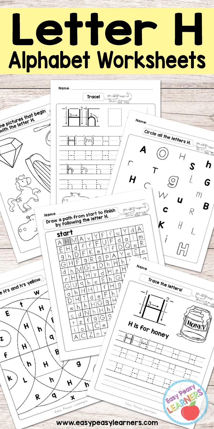 Letter H Worksheets Alphabet Series Easy Peasy Learners Letter H Worksheets Alphabet Worksheets Letter Recognition Worksheets [ 1400 x 700 Pixel ]