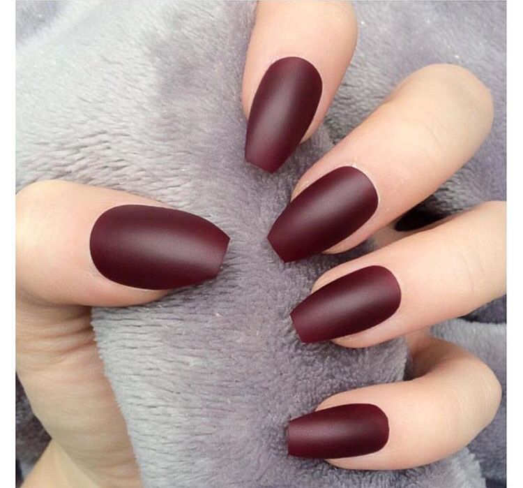 Matte Wine Nails Red Nail Art Designs Burgundy Nails Red Nails