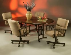 Douglas Dinette Sets With Casters Kitchen Chairs With Casters