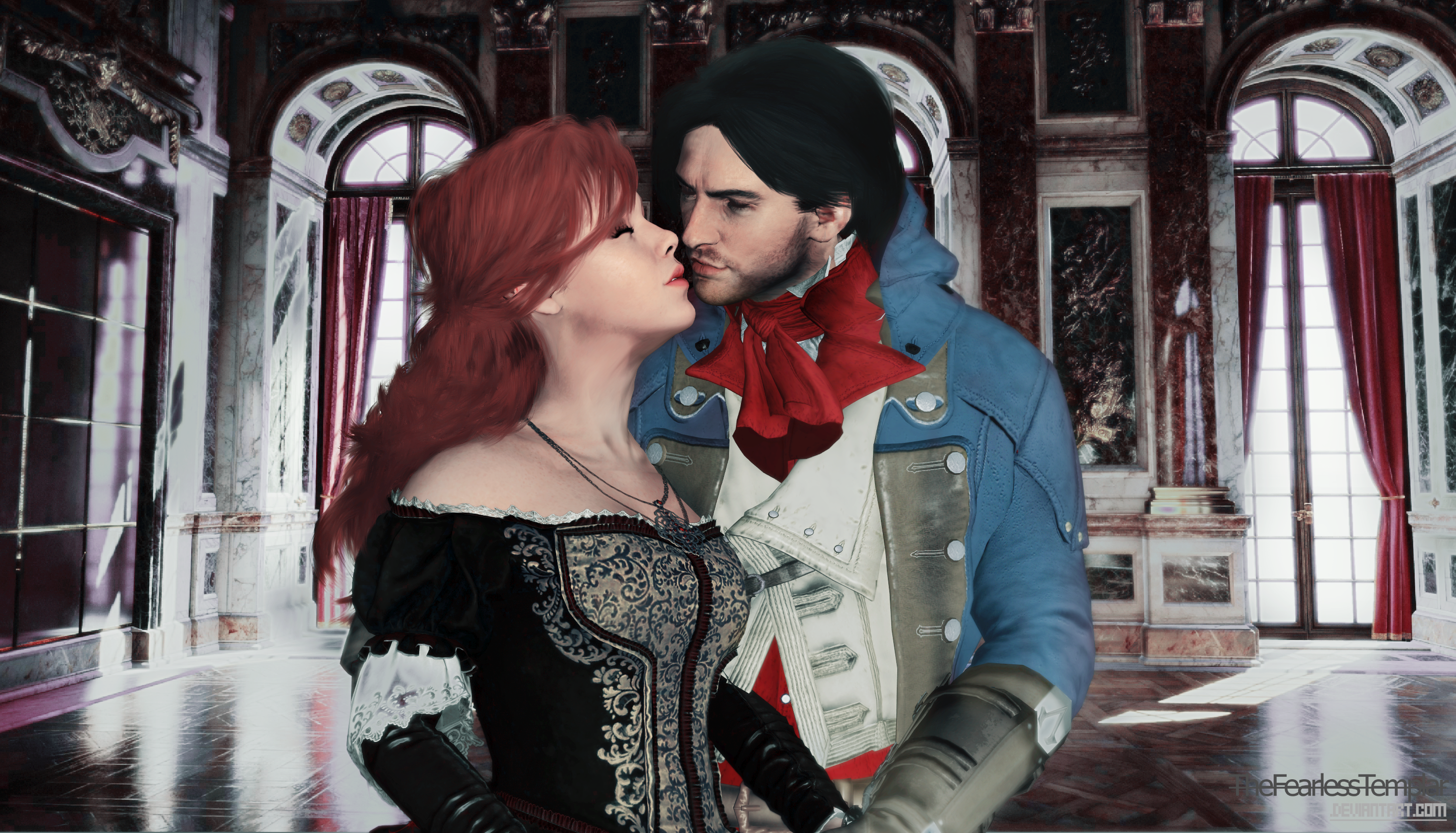 wallpaper assassins creed unity arno and elise