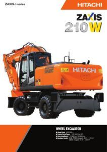 hitachi zaxis zx 210 h 5g hydraulic excavator factory repair manual rh pinterest com