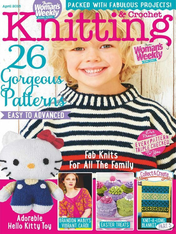 Womans Weekly Knitting Crochet April 2015