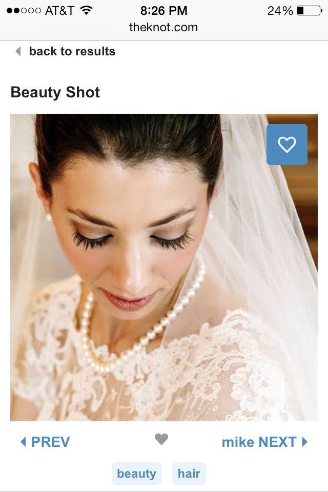 Bride pose. Makeup