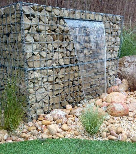 Gaviones Decorativos para el Jardín paredes piedras Pinterest