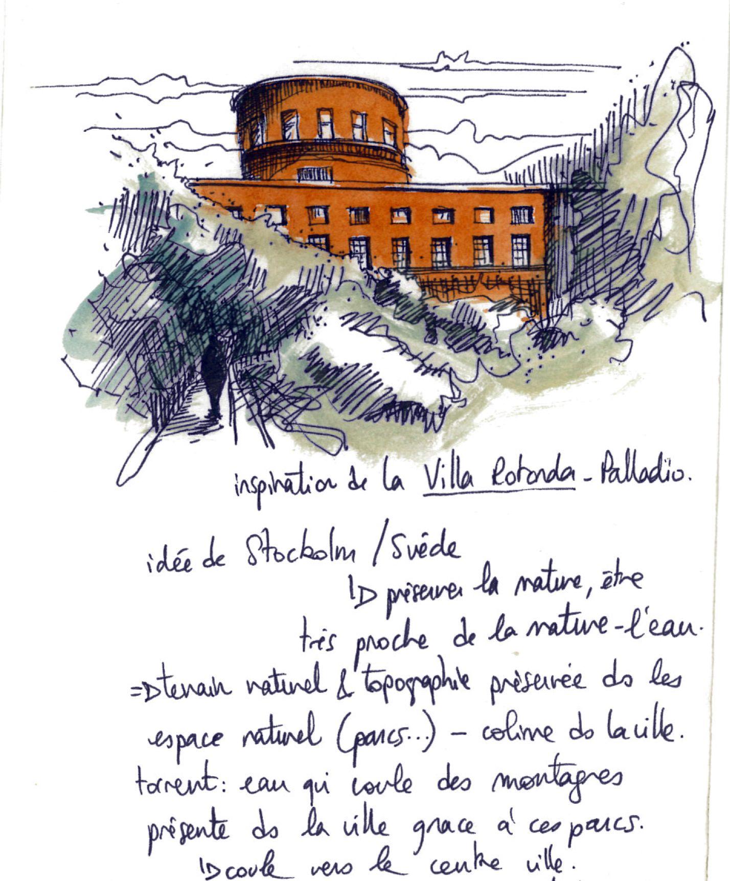 Carnet De Voyage Suede Stockholm Architecture Bibliotheque La